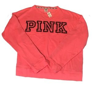 Pink Victoria Secret pullover sweater Large NWT